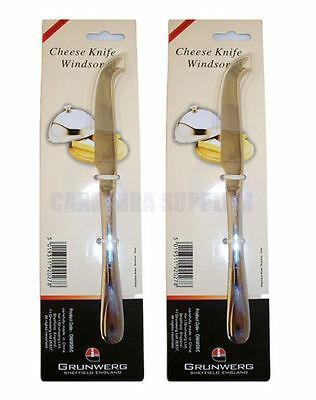 2 x Windsor by Grunwerg Cheese Knife TWIN PACK
