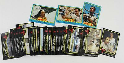 Vintage Trading Cards Universal City MOVIE JAWS 2 Complete Card Set & 3 Stickers