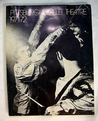 Pittsburgh Ballet Theatre 1971 -72 Program by Pittsburgh Ballet Theatre