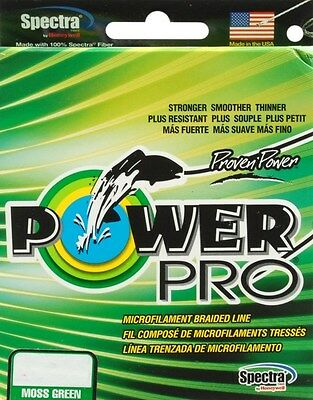 Power Pro Braided Line Powerpro Moss Green 40Lb-300Yd