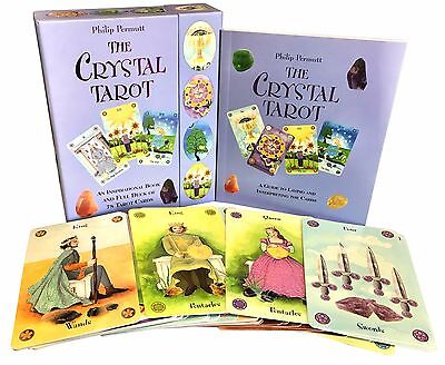 The Crystal Tarot Cards Collection Box Gift Set Mind Body Spirit Healer Psychic
