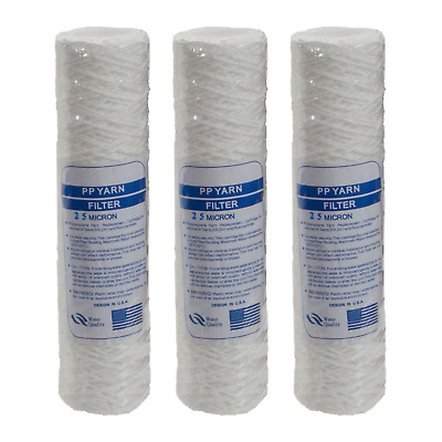 "10""  Bio-Diesel Vegetable Oil Wound Particle Filters 25 Micron - Pack of 3"