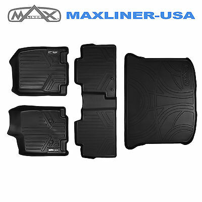 All Weather Floor Mats Set and Cargo Liner Bundle for EDGE / MKX (Black)
