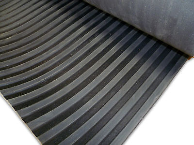 Broad Wide Ribbed Rubber Matting Flooring Mat 1.2M Wide X 3Mm, 6Mm & 10Mm Thick