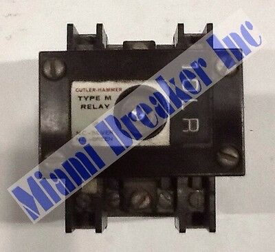 Cutler Hammer D23MR402 Type M Latched Relay 4 Pole Unit