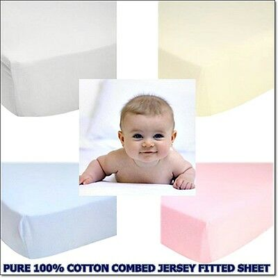 Love2Sleep  COT BED COTTON COMBED SOFT JERSEY FITTED SHEET 70 X 140 CM