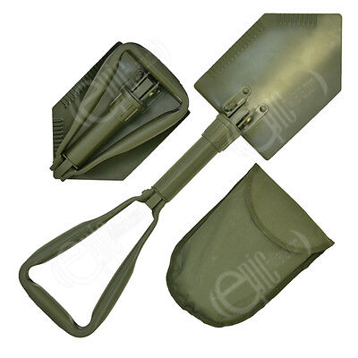 Olive Green NATO Type FOLDING SHOVEL - EXTREME Military Army Spade with Case