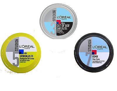 (25€/L) 150 ml LOREAL Studio Line Out of Bed, Remix Fiber Paste, Spurenlos Creme