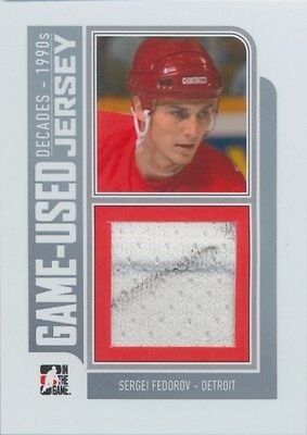 2013-14 DECADES 1990s - SERGEI FEDOROV GAME-USED JERSEY #M-37 /30