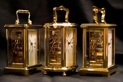 Henley Carriage Clock Hand Crafted in the UK RRP £1,995 each choose a design