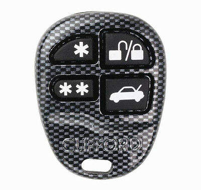 Clifford 4 Button OEM Style Remote 904100 Replacment Control ACG Carbon Fiber