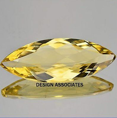 Golden Beryl Outstanding Marquise Cut 1.42 Carats AAA