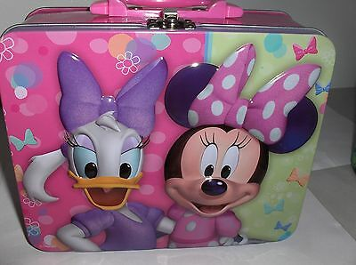 Minnie Mouse & Daffy Duck`2013,Disney-Metal Lunchbox`New-:>Free To US