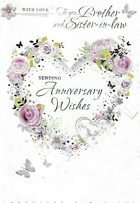 Sister And Brother In Law Wedding Anniversary Greeting Card