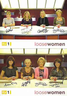 """2 x LOVELY SIGNED AGENCY 8"""" x 6"""" PHOTOS ( PP / TTM ) FROM """"LOOSE WOMEN"""" TV SHOW"""