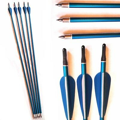 5 Alloy Archery Arrows with on/off Tip broadhead compatible suits all Bows