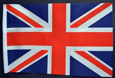 """UNION JACK BUDGET FLAG small 9""""x6"""" Great Britain British BUDGET GREAT FOR CRAFTS"""