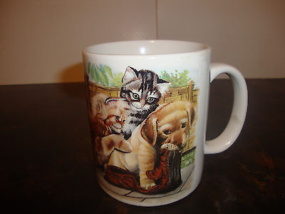"Cat & Dog Mug---3 3/4"" Tall"