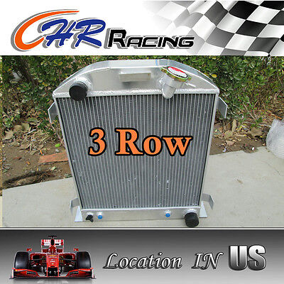 3 ROW fit 1932 FORD CHOPPED CHEVY ENGINE AT 32 Aluminum Radiator new