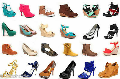 Wholesale Lot Women's Shoes Mix Match Fashion Pump Boots Sandals Sneaker Wedge
