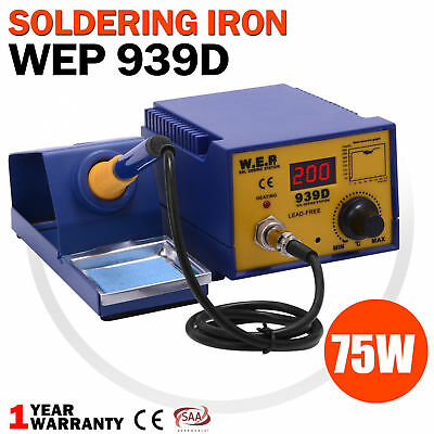 Digital 75W Soldering Iron Station Lead Free ESD Safe Welding Tool Stand Kit New