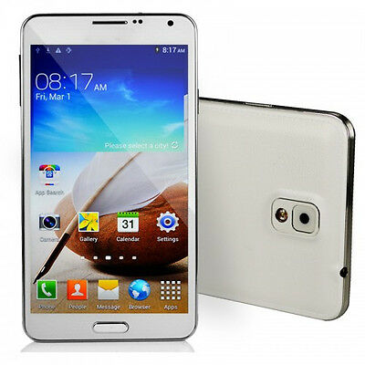 """5.7"""" Android 4Core 1G/8G Unlocked Dual Sim Quad Band AT&T WCDMA/GPS Smartphone"""