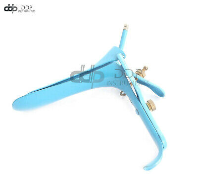 Blue Coated LEEP Graves Speculum Medium Gynecology Surgical DDP Instruments