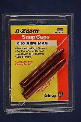 A-Zoom Snap Caps 416 Remington Magnum 2-Pack New In Package AZoom #12288