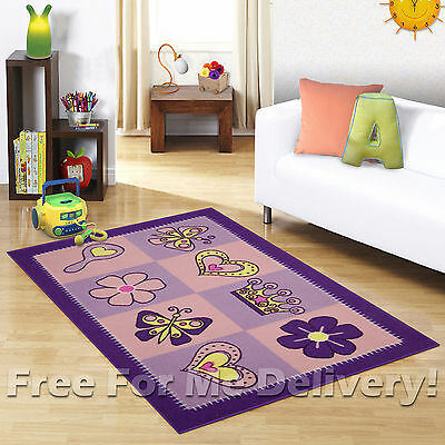 KIDS EXPRESS GIRLS CUTE FUN FLOOR RUG (XS) 100x150cm **FREE DELIVERY**