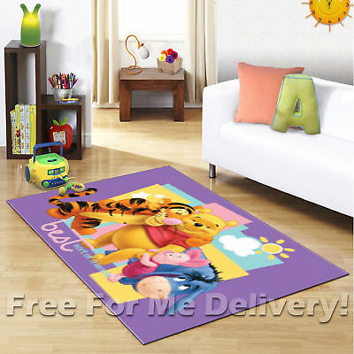 KIDS EXPRESS WINNIE POOH & FRIENDS FLOOR RUG (XS) 100x150cm **FREE DELIVERY**