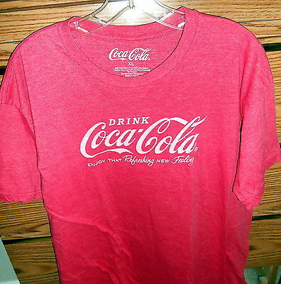 Red Coca-Cola Coke Adult T-Shirt X-Large - Euc
