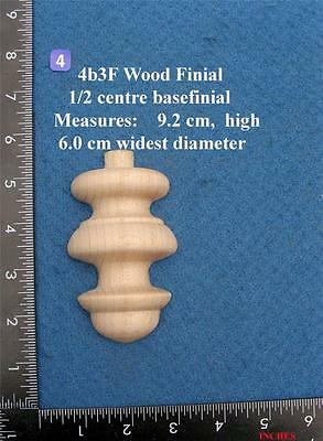 Single 1/2 profile base Clock / furniture base Finial Style 4bf