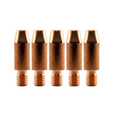 MIG Contact Tips - 1.0mm Binzel Style - 5 pack - M6 x 8mm x 1.0mm - Parweld