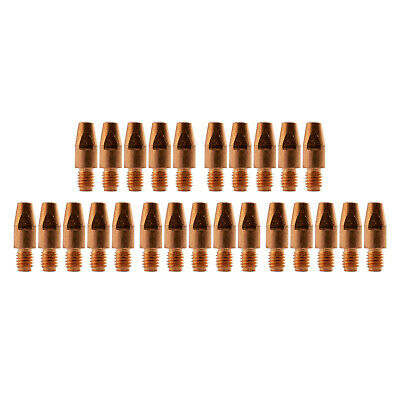 MIG Contact Tips - 1.0mm Binzel Style - 25 pack - M8 x 10mm x 1.0mm - Parweld