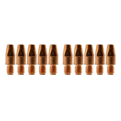 MIG Contact Tips - 1.2mm Binzel Style - 10 pack - M8 x 10mm x 1.2mm - Parweld