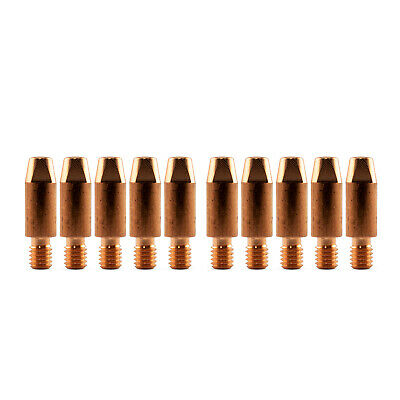 MIG Contact Tips for ALUMINIUM - 1.0mm Binzel Style - 10 pack - M6 x 8mm x 1.0mm