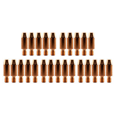 MIG Contact Tips for ALUMINIUM - 1.0mm Binzel Style - 25 pack - M6 x 8mm x 1.0mm