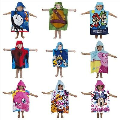 Kids Hooded poncho towel over 30 different characters to choose from