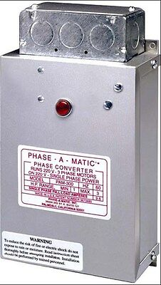 PHASE-A-MATIC 3 - 5 HP STATIC PHASE CONVERTER PAM-600HD - NEW!