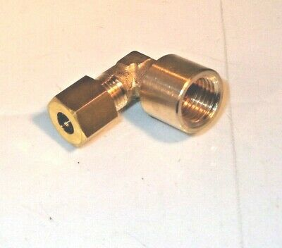 1/8 Bsp Female To 6mm Compression Elbow For AGA Burner Base to Oil