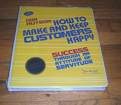 How to Make and Keep Customers Happy - Don Hutson - Audio CD Format  - NEW