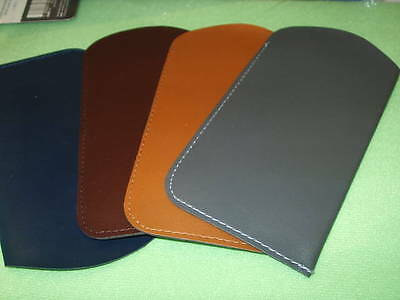 Leather Look Soft Glasses Cases 16Cm 8Xcm 4 Colours Available