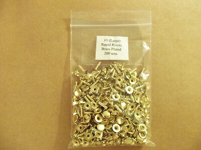 Large (Size #5) Rapid Rivets Nickel, Brass, Antique (200 Pack)
