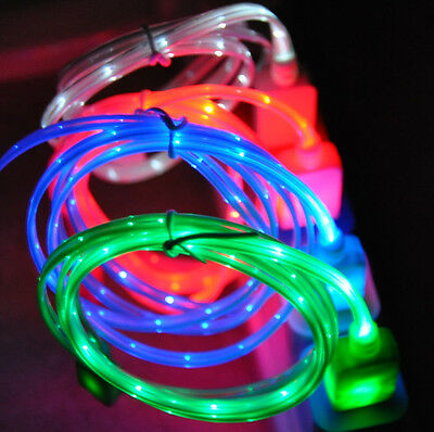 LED light-up charger cable FOR apple iPhone 6 6S 5S 5C 4 galaxy s6 s7 micro usb