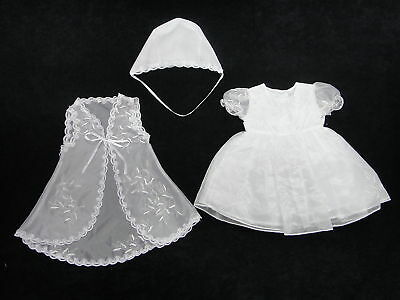 Baby Girl 3Pcs Christening/Wedding Dress Size 0000-0