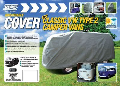 New MAYPOLE BREATHABLE HEAVY DUTY COVER FOR CLASSIC VW TYPE 2 CAMPER VAN 4 PLY