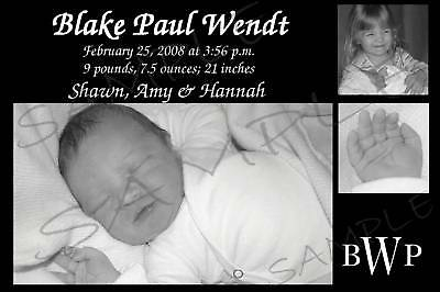 Personalized Digital Photo Baby Birth Announcements Boy Or Girl