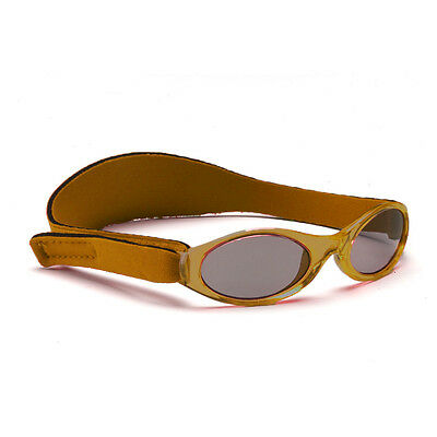 Childs Sunglasses Baby Banz Shades Adjustable Boys Brown Retro Strap 0-2yrs