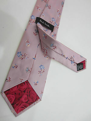 """Paul Smith """"MAINLINE"""" Floral Classic Tie 100% Silk Woven - Made in Italy BNWT"""