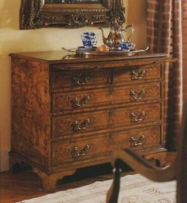 Walnut English Chest of Drawers 5 Drawers Antique Reproduction NEW